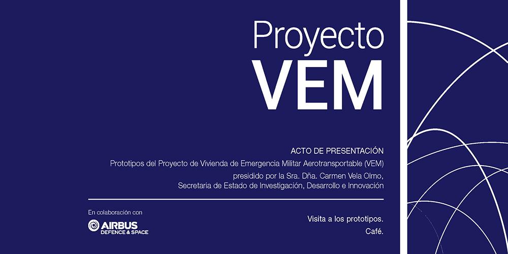 Acto de presentación del proyecto VEM – VIVIENDA DE EMERGENCIA MILITAR