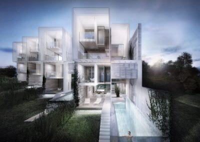 116 viviendas y Club social en la Urbanización Santa Clara, Marbella